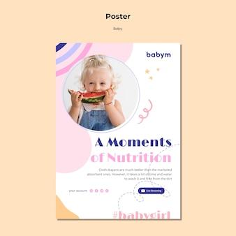 Pionowy plakat dla noworodka