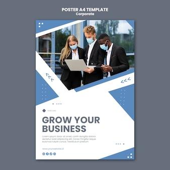 Pionowy plakat dla profesjonalnego biznesu