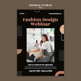 Pionowy plakat dla projektanta mody