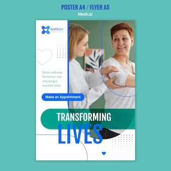 Pionowy plakat dla służby zdrowia