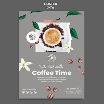Pionowy plakat do kawy