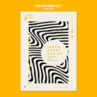 Pionowy plakat do kursów projektowania graficznego