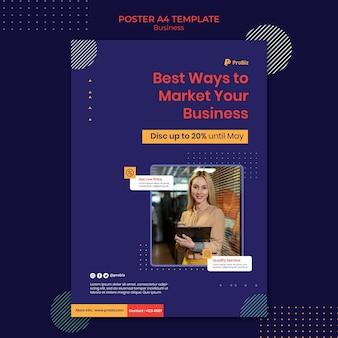 Pionowy plakat do profesjonalnych rozwiązań biznesowych