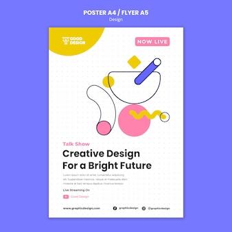 Pionowy plakat do projektowania graficznego