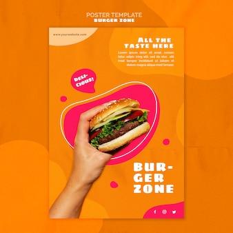 Pionowy plakat do restauracji z burgerami