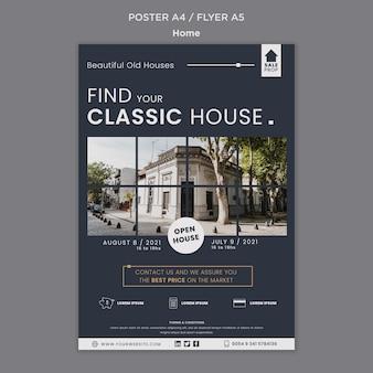 Pionowy plakat do znalezienia idealnego domu