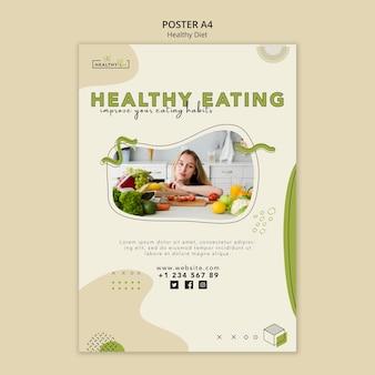Pionowy Plakat Dotyczący Zdrowego Odżywiania Darmowe Psd