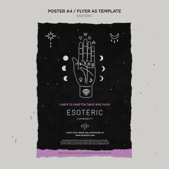 Pionowy plakat ezoterycznego rzemiosła