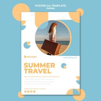 Pionowy plakat na letnie wakacje
