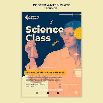 Pionowy plakat na zajęcia z nauk ścisłych