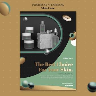 Pionowy plakat produktów do pielęgnacji skóry