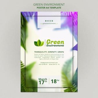 Pionowy plakat przedstawiający zielone otoczenie