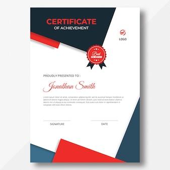 Pionowy szablon certyfikatu