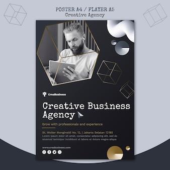 Pionowy szablon plakatu dla firmy partnerskiej
