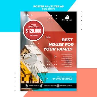 Pionowy szablon plakatu dla firmy z branży nieruchomości