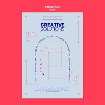 Pionowy szablon plakatu dla kreatywnych rozwiązań biznesowych