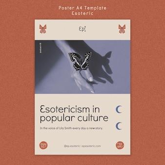 Pionowy szablon plakatu dla mistycyzmu i ezoteryki