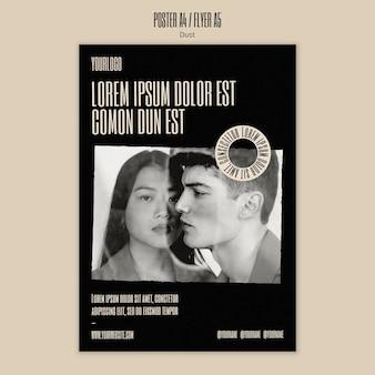 Pionowy szablon plakatu dla nowej kolekcji mody