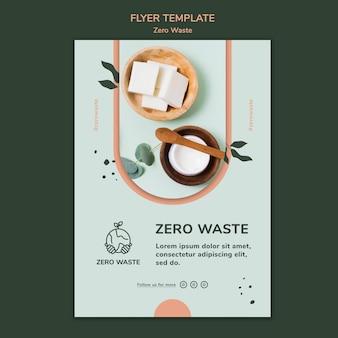 Pionowy szablon plakatu dla stylu życia zero waste