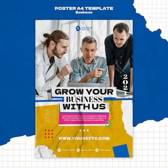 Pionowy szablon plakatu do kreatywnych rozwiązań biznesowych