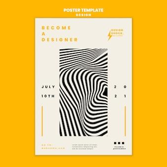 Pionowy Szablon Plakatu Do Kursów Projektowania Graficznego Darmowe Psd