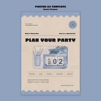Pionowy szablon plakatu do planowania wydarzeń