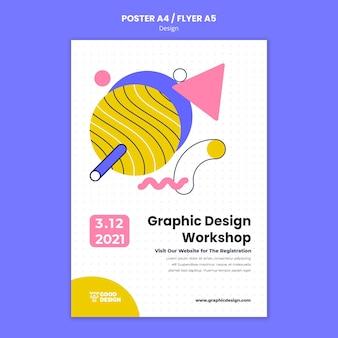 Pionowy szablon plakatu do projektowania graficznego