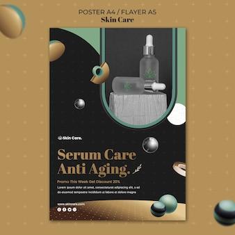 Pionowy szablon plakatu na produkty do pielęgnacji skóry