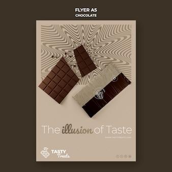 Pionowy szablon ulotki dla czekolady