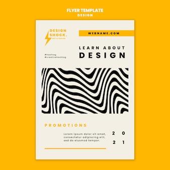 Pionowy szablon ulotki na kursy projektowania graficznego