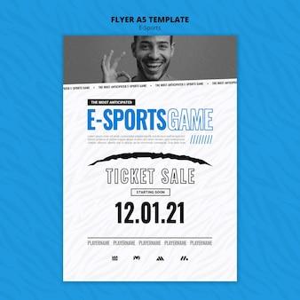 Pionowy szablon wydruku e-sportowego