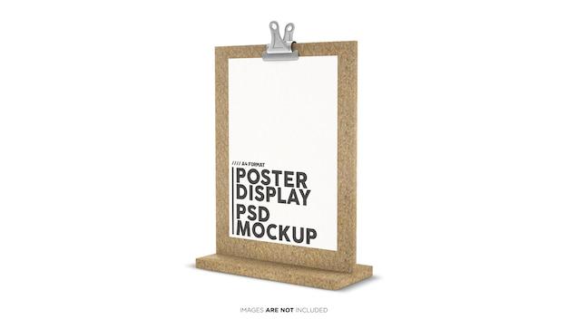 Pionowy wyświetlacz plakatu formatu a4 psd mockup