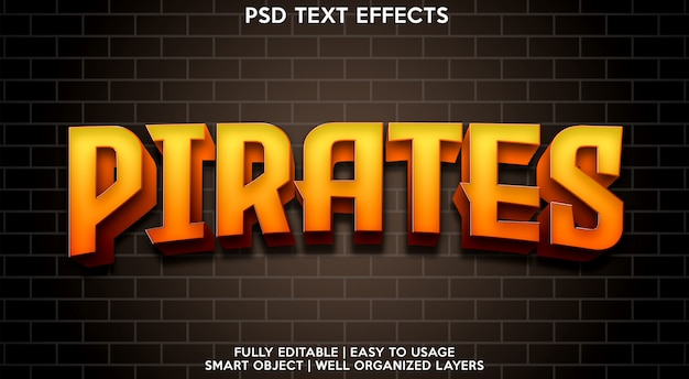 Piraci szablon efektów tekstowych