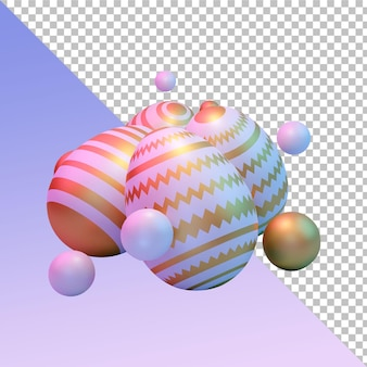 Pisanki 3d renderowania projektu