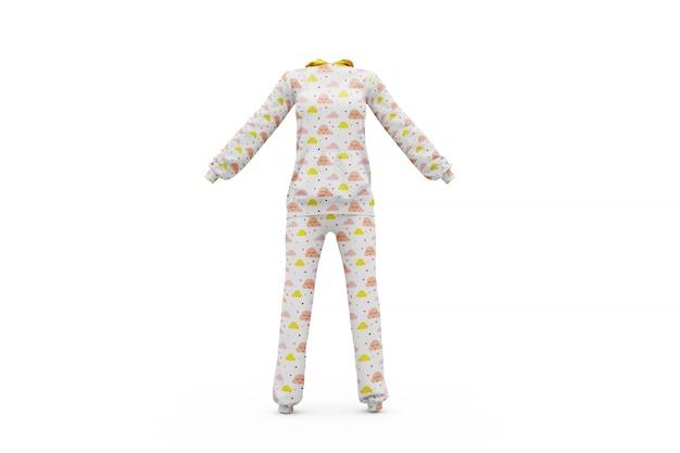 Piżama makieta izolowane