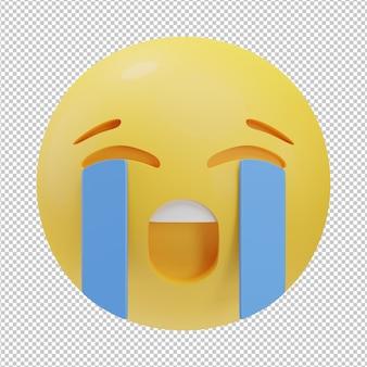 Płacz emoji ilustracja 3d