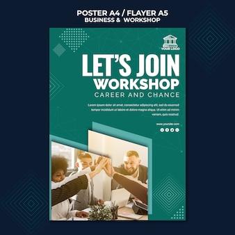 Plakat biznesowy i warsztatowy
