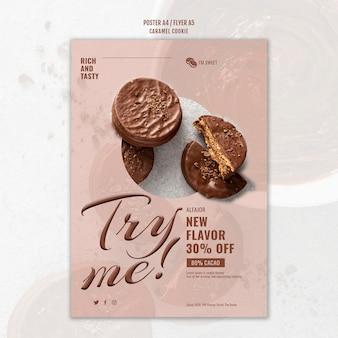 Plakat ciasteczka karmelowe