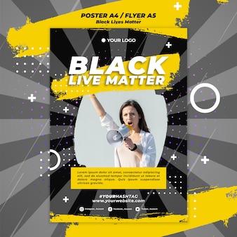 Plakat czarny żyje ma znaczenie