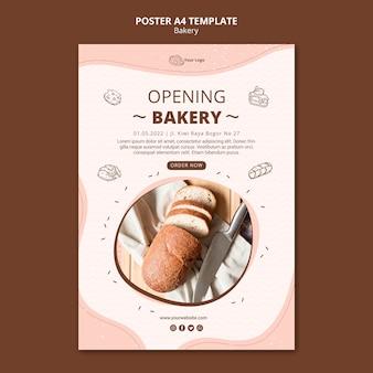 Plakat dla biznesu piekarni