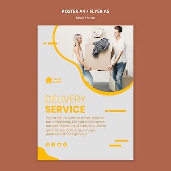 Plakat dla firmy przeprowadzkowej