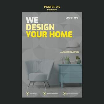 Plakat dla firmy zajmującej się projektowaniem wnętrz