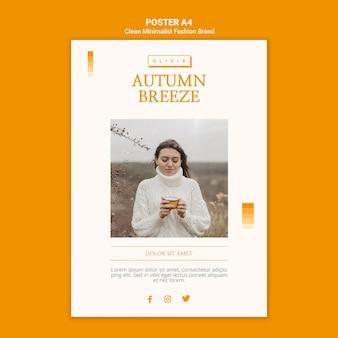 Plakat dla minimalistycznej jesiennej marki modowej