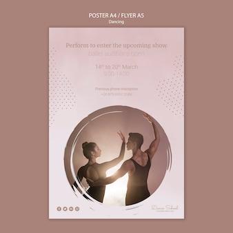 Plakat dla wykonawców tańca