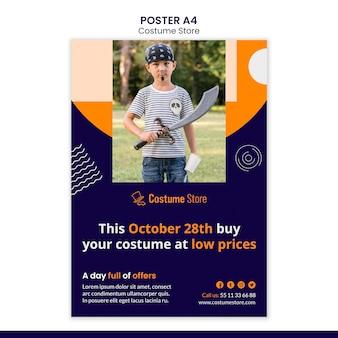 Plakat do kostiumów na halloween