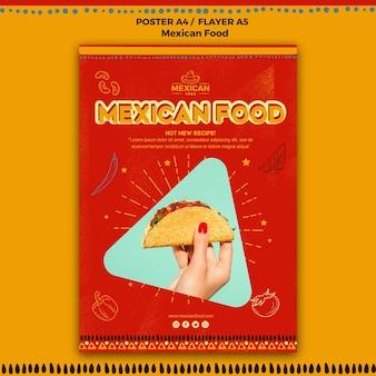 Plakat do meksykańskiej restauracji spożywczej