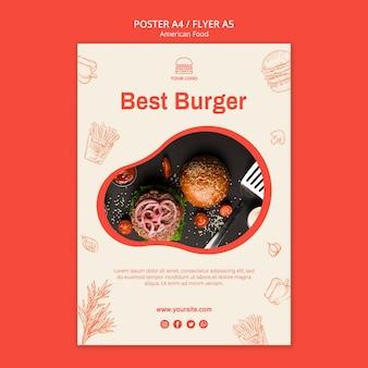 Plakat do restauracji burgerowej