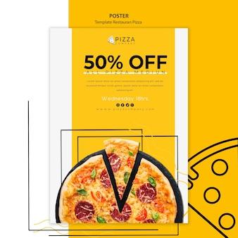 Plakat do restauracji pizzy