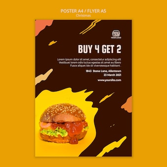 Plakat do restauracji z burgerami