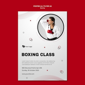 Plakat do treningu bokserskiego